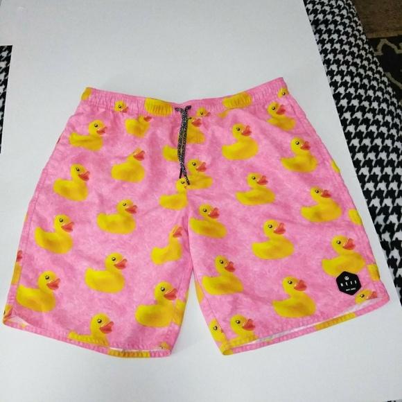 eba417819a4 NEFF Pink Rubber Duck Swim Trunks / Shorts. M_5c7748b12beb7937994e8ff0